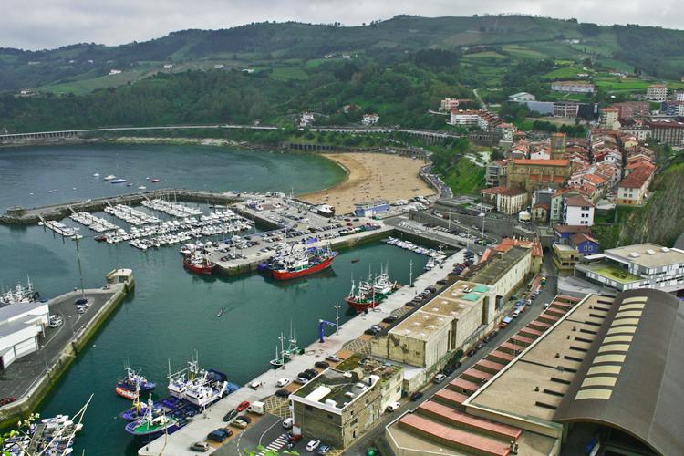 Panorámica de Getaria y el puerto